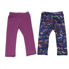 "Ari and Friend Fish Print Leggings & Purple Leggings Fit 18"" American Girl Doll"