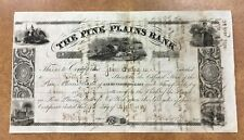 {Bj Stamps} Pine Plains Ny Bank Stock 1839 Transfered 7 Times To 1860 clear