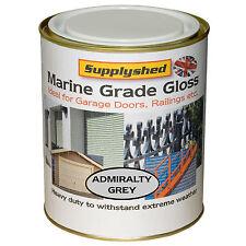 Supplyshed GLOSS ADMIRALTY GREY GARAGE DOOR PAINT for Fibreglass and Metal 750ml