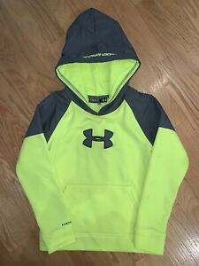 Under Armour Armour Fleece Printed Youth X-Small High-Vis Yellow