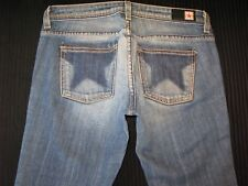Peoples Liberation Jeans Cloey Super Low Bootcut Distressed Sz 25 (Run BIG)