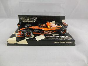 Minichamps 400 010115 Orange Arrows Asiatech A22 E Bernoldi F1 2001 Scale 1:43