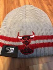 NBA New Era Chicago Bulls Beanie Hat Striped Knit Cap