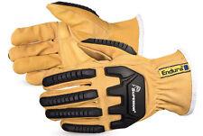 ENDURA Goat Skin Kevlar Lined Anti Impact Padded Palm Driver Glove Size LARGE
