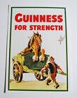 Vintage 1990s Postcard Guinness WebStore Horse In Cart 1949 Artist John Gilroy