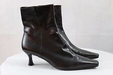 """Women's STUART WEITZMAN Mid calf brown leather Zipper Heel 2.5""""boots size 5 1/2M"""