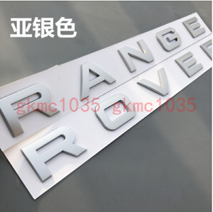 """Matte Silver """" RANGE ROVER """" Trunk Emblem Decal Letters Sticker for LAND ROVER"""