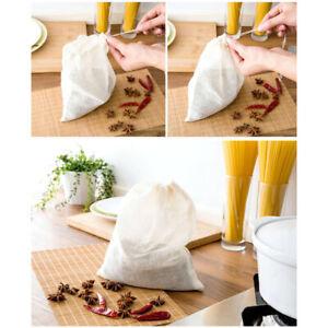 3 x Organic Cotton  Nut Milk Bag Reusable Food Strainer Brew Coffee Cheese Cloth