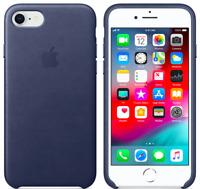Azul noche Apple Original Funda Cuero Leather para el iPhone SE / 8 / 7