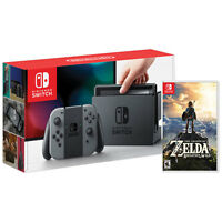 Nintendo Switch - 32GB Gray Console Gray Joy-Con factory + Legend of Zelda !