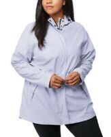 32 Degrees Women's 2x Plus Size Water-Resistant Hooded Raincoat, Purple, $80,NwT