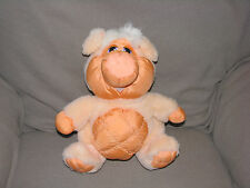 VINTAGE DANDEE DAN DEE STUFFED PLUSH PEACH NYLON PUFFALUMP PIG DOLL TOY ANIMAL