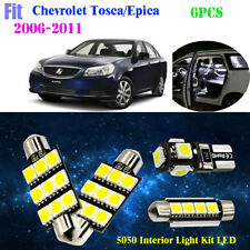 6Bulb 5050 LED Xenon White Interior Light Kit Fit For 2006-2011 Chev Tosca/Epica