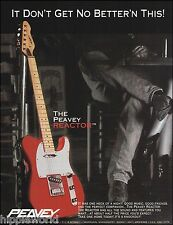 The 1994 Peavey Reactor guitar ad 8 x 11 trimmed & ready to frame advertisement