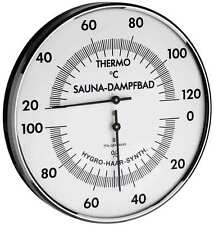 TFA 40.1032 Saunathermometer Saunahygrometer analog Saunauhr Temperatur Dampfbad