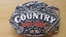 New Country Music Belt Buckle- For The Country Music Fan-A Must Have Piece