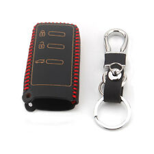 3BTS Fob Case Remote Key Shell Holder For Subaru Forester Impreza Legacy Leather