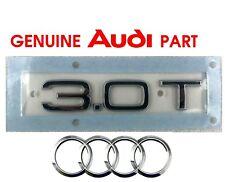 Genuine Audi 3.0T rear boot lid hatch badge emblem. A4 A5 A6 A7 A8 TFSI OEM.  G2