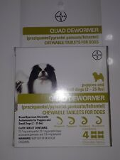 Dog Quad Dewormer, Chewable Tablets - Multi Multi 2-25 lbs New Exp date JUL 2022