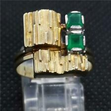 14 ct gold emerald ring