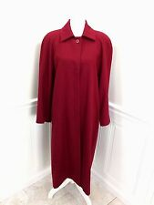 Vintage PENDLETON Long Wool Full Length Coat Cranberry Color size 12