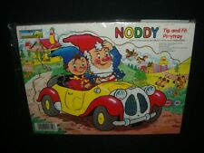 Vintage 1980s Enid Blyton Noddy Wooden Tip and Fit Play Tray by Chad Valley
