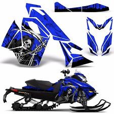 Decal Graphic Wrap Kit Ski Doo Sled Snowmobile REV XS Renegade MXZ 13+ REAP BLUE