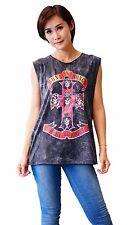 Guns N' Roses distressed Rock Band Tank Top Vest Singlet Black T Shirt