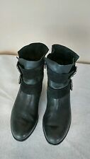 Paul Green denver' Belted Buckles Black Bootie suede & Leather Size 5.5 (8 US)