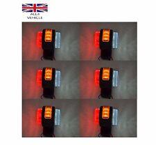 6 X LED SIDE OUTLINE MARKER LIGHTS FOR TRUCK IVECO DAF MAN SCANIA 24V