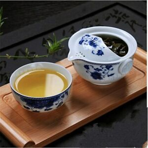 Tea Set Ceramic 1 Tea Pot & 1 Cup Elegant Gaiwan Teapot Porcelain Tea Cup Kettle