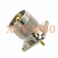 1pce Connector UHF PL259 male plug 4-holes flange solder cup Panel Mount RF COAX