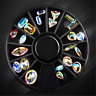 Mixed Shape Nail Art Wheel AB Rhinestone Crystal Gems Glitter 3D Tips Decoration