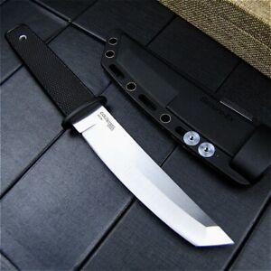 Tanto Knife Mini Samurai Fixed Blade Hunting Wild Tactical Combat Kraton Handle