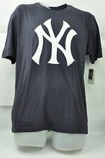 MLB New York Yankees Red Jacket Large Men Navy Blue Skyline Short Sleeve Tshirt