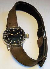 Repro Langriemen B-Uhr Flieger Piloten Leder Unterzug Armband WK2 36cm / 25mm