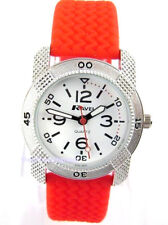 Ravel Kids Girls Boys Quartz Watch with Trendy Red Silicone Strap