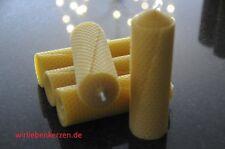 5 x Bienenwachskerzen XL 100 % Bienenwachs Kerzen 145 x 46mm Handarbeit aus D
