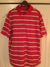 â›³ Nike Dri-Fit Tour Perf Golf Shirt Red/Gray Stripe -Mens Large-L -$65â›³