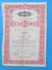 Poland - Obligacja 100 zlotych w zlocie 1934