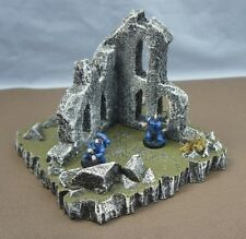 WARGAME Terrain Scenery Destroyed Building on Hill #1 Hand-Crafted Warhammer