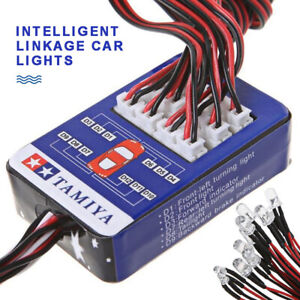 12 LED Leuchten Lenksystem Beleuchtungssatz für RC Car TAMIYA TT-01 SCX10 CC01