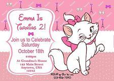 Aristocats Birthday Invitation, Party Supplies, Marie the cat, Cats, Aristocats