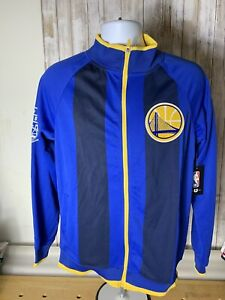 NBA Golden State Warriors Jacket Full Zip Track Sz large NWT