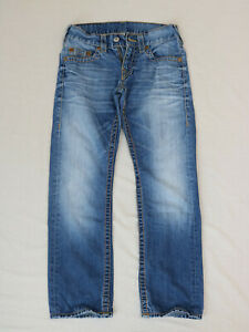 True Religion Men zipper fly Straight jeans size 29 used Pre-owned (Defective )