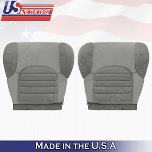 Driver & Passenger Bottom Cloth Cover Gray Fits 2007 to 2015 Nissan Pathfinder