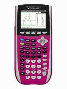 Texas Instruments TI-84 Plus C Silver Edition Graphing Calculator Pink Very Good