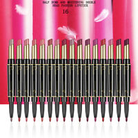 Pro 16 Colors Double-end Lasting Lipliner Waterproof Lip Liner Stick Pencil