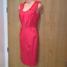 Neues AngebotWarehouse Damen Hot Pink Kleid Gr 10 Baumwolle Satin Bodycon ärmellos hell