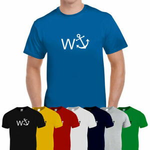 W Anchor Funny Mens Trendy Cotton Tee T-Shirt Top Unisex 8 Colours